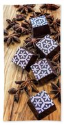 Star Anise Chocolate Beach Towel