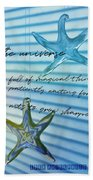 Star Bright Quote Beach Sheet