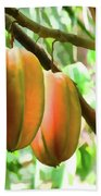 Star Fruit On The Tree Beach Towel