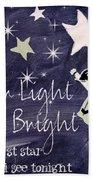 Star Light Star Bright Chalk Board Nursery Rhyme Beach Towel