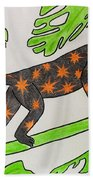 Star. Monkey  Beach Towel