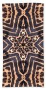 Star Of Cheetah Beach Towel