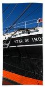 Star Of India Tall Ship San Diego Bay Beach Towel