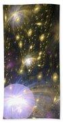 Star Particles Beach Towel