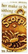 Star Sign In Scorpio Beach Towel