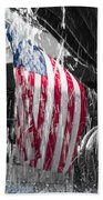 Star Spangled Splash  Beach Towel