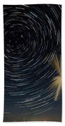 Star Trail In Hays, Ks Beach Towel