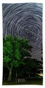 Star Trails At Sunken Meadow State Park Beach Towel