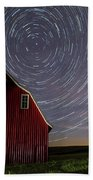 Star Trails At The Red Barn Beach Towel