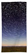 Star Trails Over Mountains Beach Towel