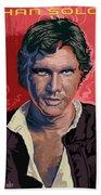 Star Wars Han Solo Pop Art Portrait Beach Towel