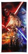 Star Wars The Force Awakens Artwork Beach Towel