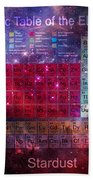 Stardust Periodic Table Beach Towel