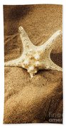 Starfish In Sand Beach Towel