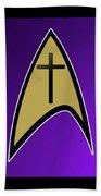 Starfleet Pastor  Beach Towel