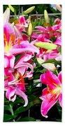 Stargazer Lilies #5 Beach Towel