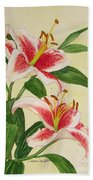 Stargazer Lilies - Watercolor Beach Towel