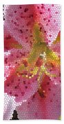 Stargazer Stained Glass Beach Towel