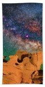 Stargazing Bull Beach Towel