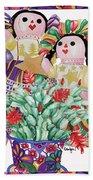 Starring The Christmas Cactus Beach Towel