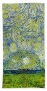 Starry Ballintoy Church Beach Towel