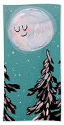 Starry Night Moon  Beach Sheet