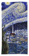 Starry Nights And Serenity  Beach Towel