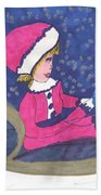 Starry Sleigh Ride Beach Towel