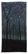 Starry Trees Beach Towel