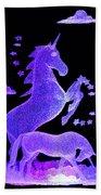 Starry Unicorns Beach Towel