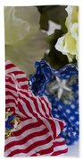 Stars And Stripes Bouquet Beach Towel