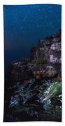 Stars Over The Grotto Beach Towel