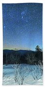 Stars Over The New Hampshire White Mountains Beach Towel
