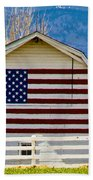 Stars Stripes And Barns Beach Towel
