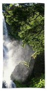 Starvation Creek Falls In September  Beach Towel