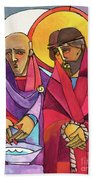 Stations Of The Cross - 01 Jesus Is Condemned To Death - Mmjcd Beach Towel