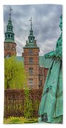 Statue At Rosenborg Castle Beach Towel
