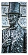 Statue Of Abraham Lincoln #7 Beach Towel