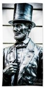 Statue Of Abraham Lincoln #8 Beach Towel