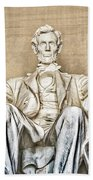 Statue Of Abraham Lincoln - Lincoln Memorial #3 Beach Towel