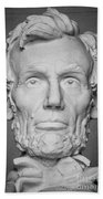 Statue Of Abraham Lincoln - Lincoln Memorial #6 Beach Towel