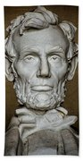 Statue Of Abraham Lincoln - Lincoln Memorial #7 Beach Towel