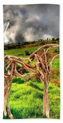 Statue Of Branches 3 Beach Towel