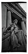 Statue Of Justice At The Courthouse In Memphis Tennessee Beach Towel