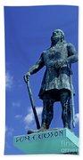 Statue Of Leif Ericksson  Beach Towel