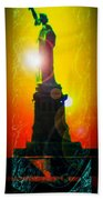 Statue Of Liberty 7 Beach Towel