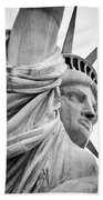 Statue Of Liberty, Lateral Portrait Beach Towel