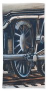 Steam Engine Wheels Beach Sheet