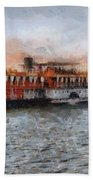 Steamboat On The Nile Beach Towel