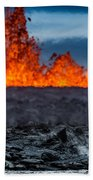Steaming Lava And Plumes Beach Towel
